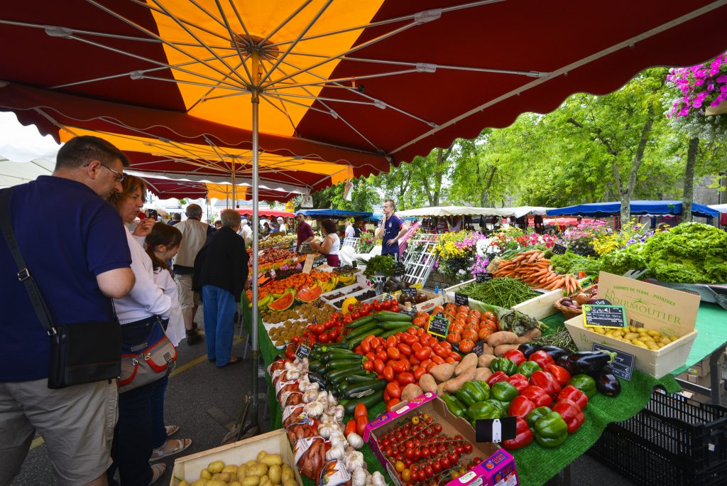 Le marché de Guidel, chaque dimanche matin.