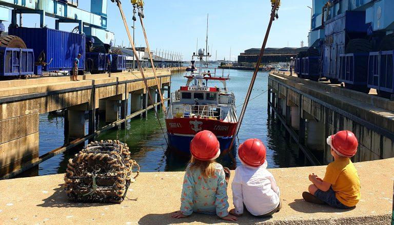 Puerto de pesca en Lorient