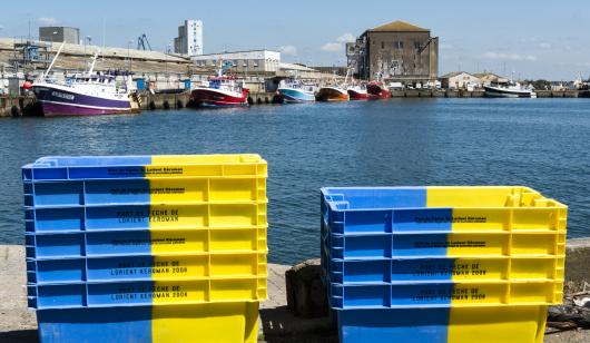 Caisses port de pêche Lorient