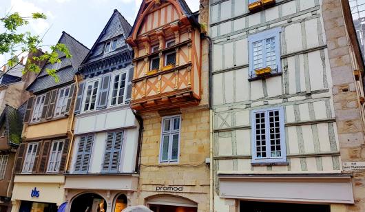 Maisons à colombages à Quimper.