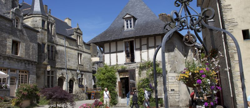 Le village de Rochefort en Terre.