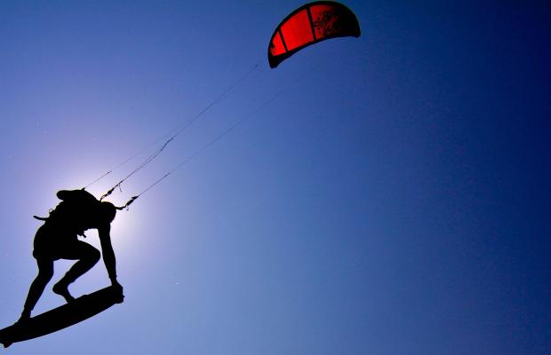 Envolée en kitesurf