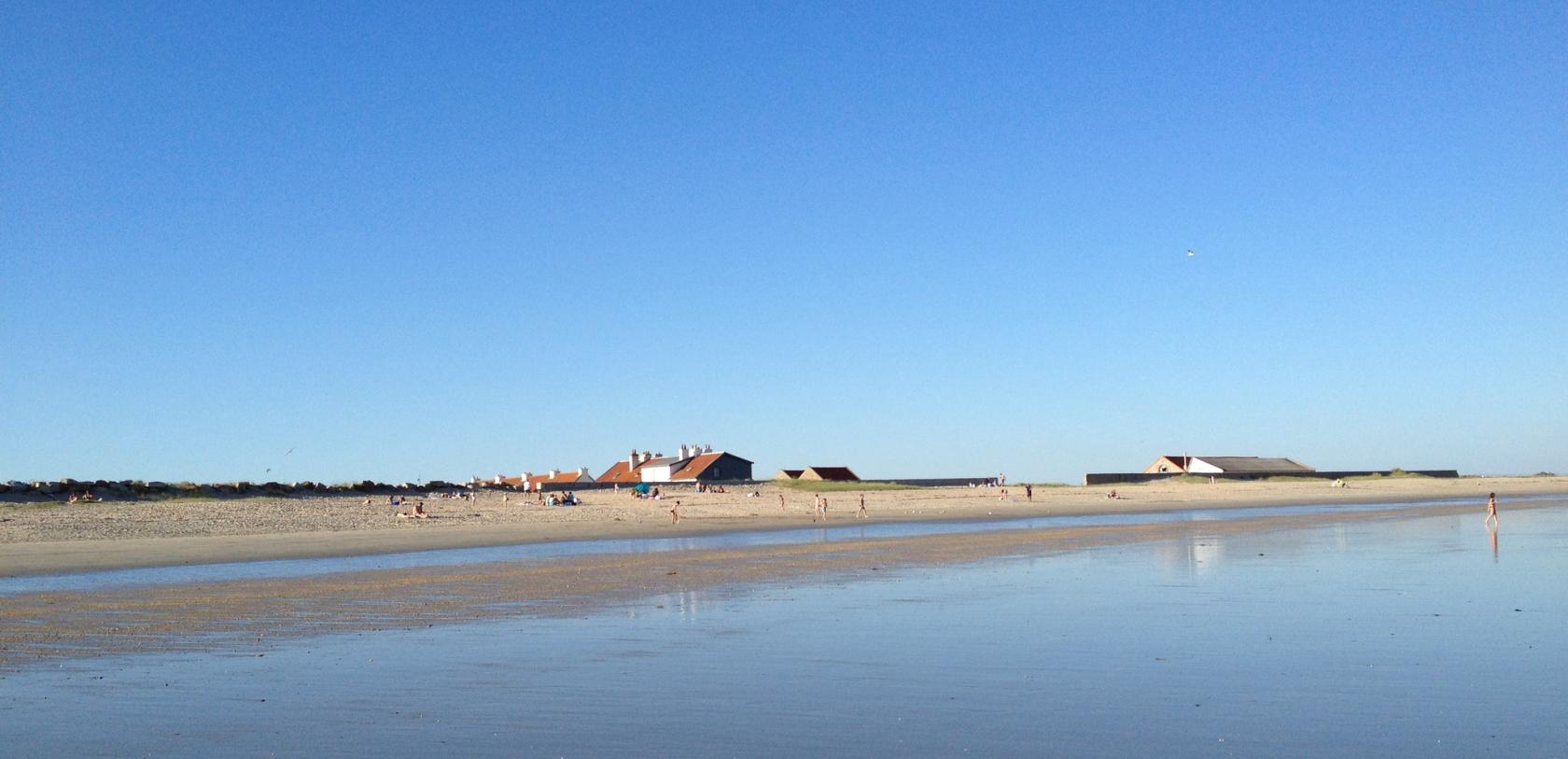 La grande plage de Gâvres.