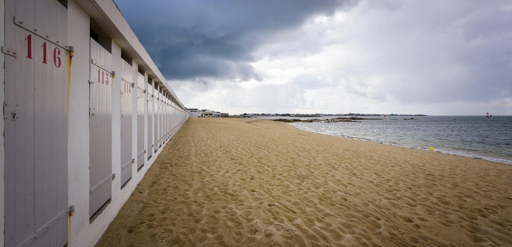 Port Louis, la grande plage patis