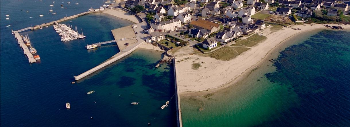 Vue aérienne du Port de plaisance de Gâvres.